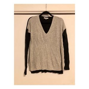 Madewell two-tone V-neck Sweater